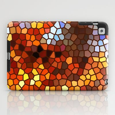 Autumn Mosaic Abstract iPad Case by Bebop - $60.00