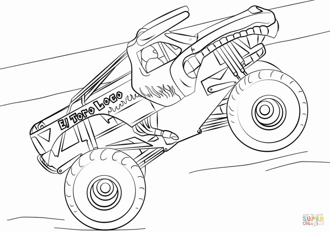 Monster Trucks Coloring Pages Beautiful Monster Truck ...