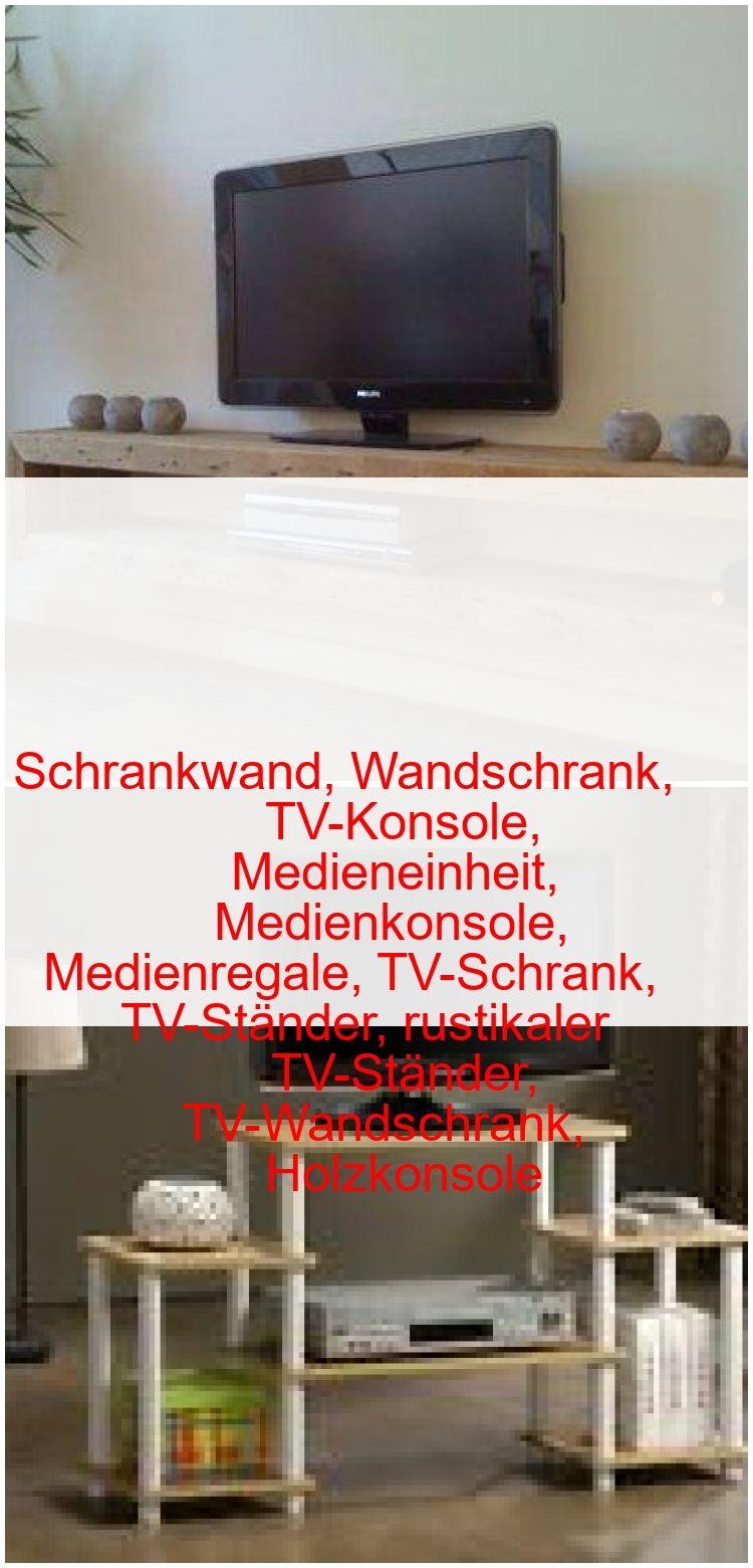 Schrankwand Wandschrank Tv Konsole Medieneinheit Medienkonsole Medienregale Tv Schrank Tv Stander Rustika With Images Flat Screen Flatscreen Tv Electronic Products