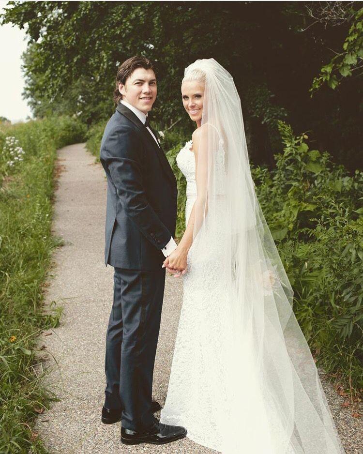 Tj oshie and Lauren oshie | Wedding | Wedding dresses, Wedding