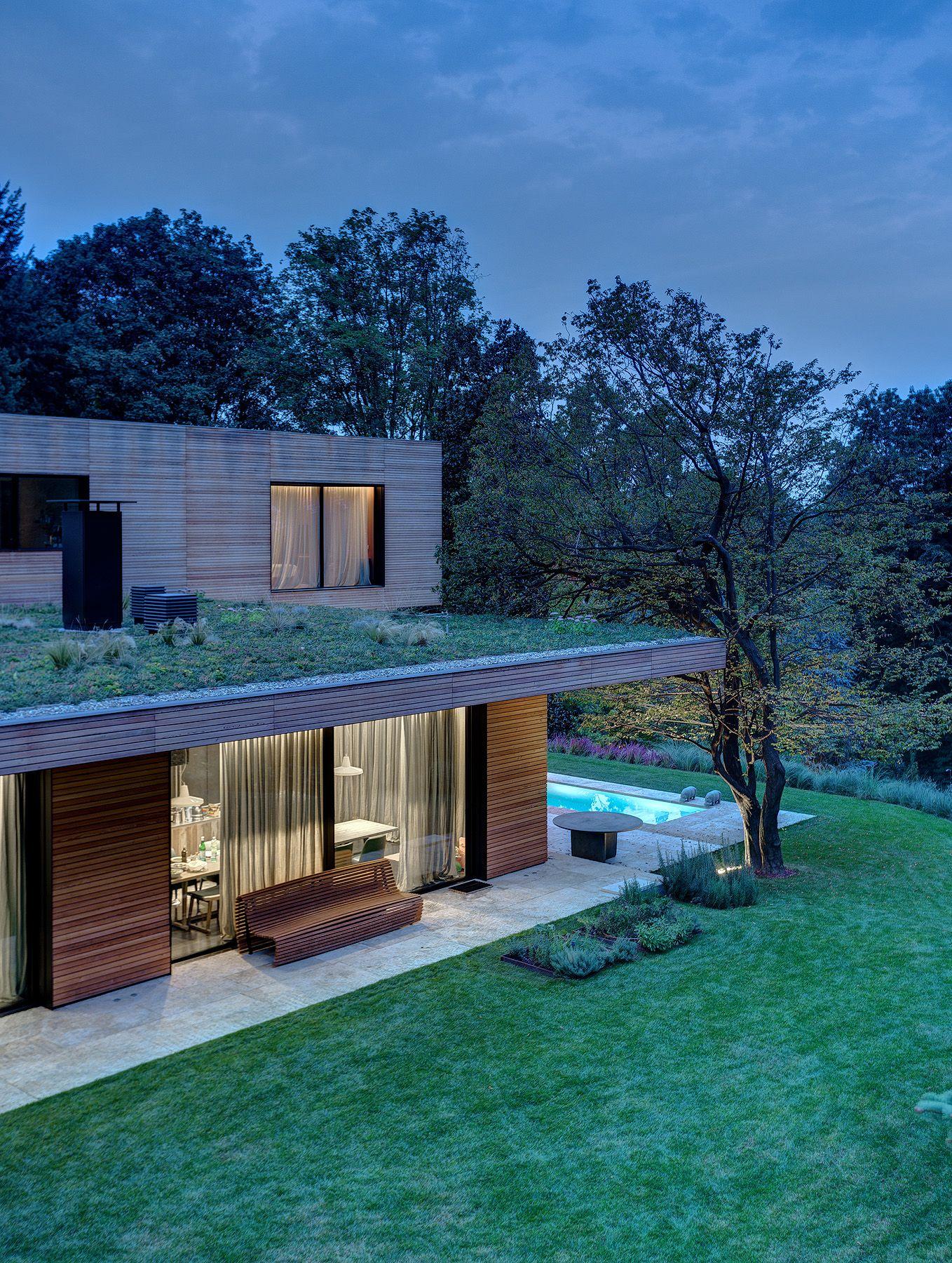 Villa in legno e casa di design  Casa prefabbricata in legno di lusso  Struttura portante in