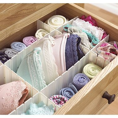 Lakeland Any Way Drawer Dividers Slot In Plastic Organisers
