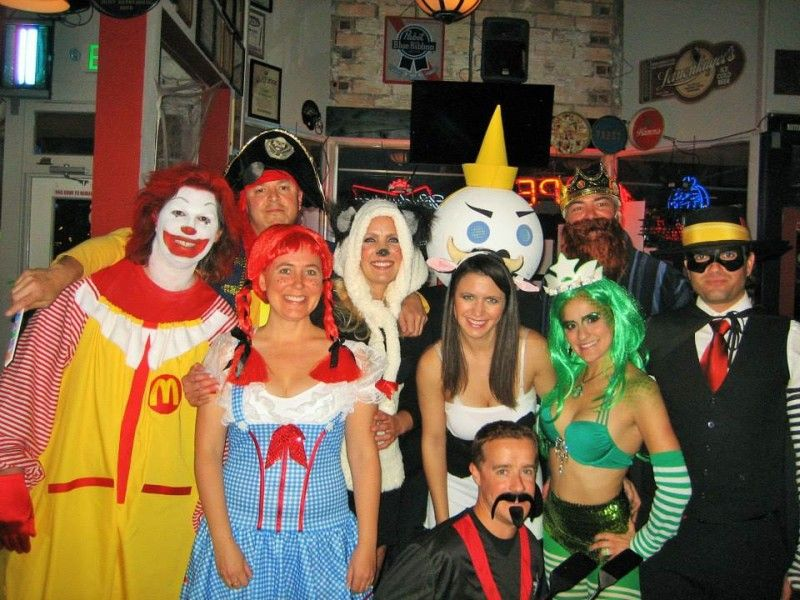 Danielle and friends as fast food mascots costumes