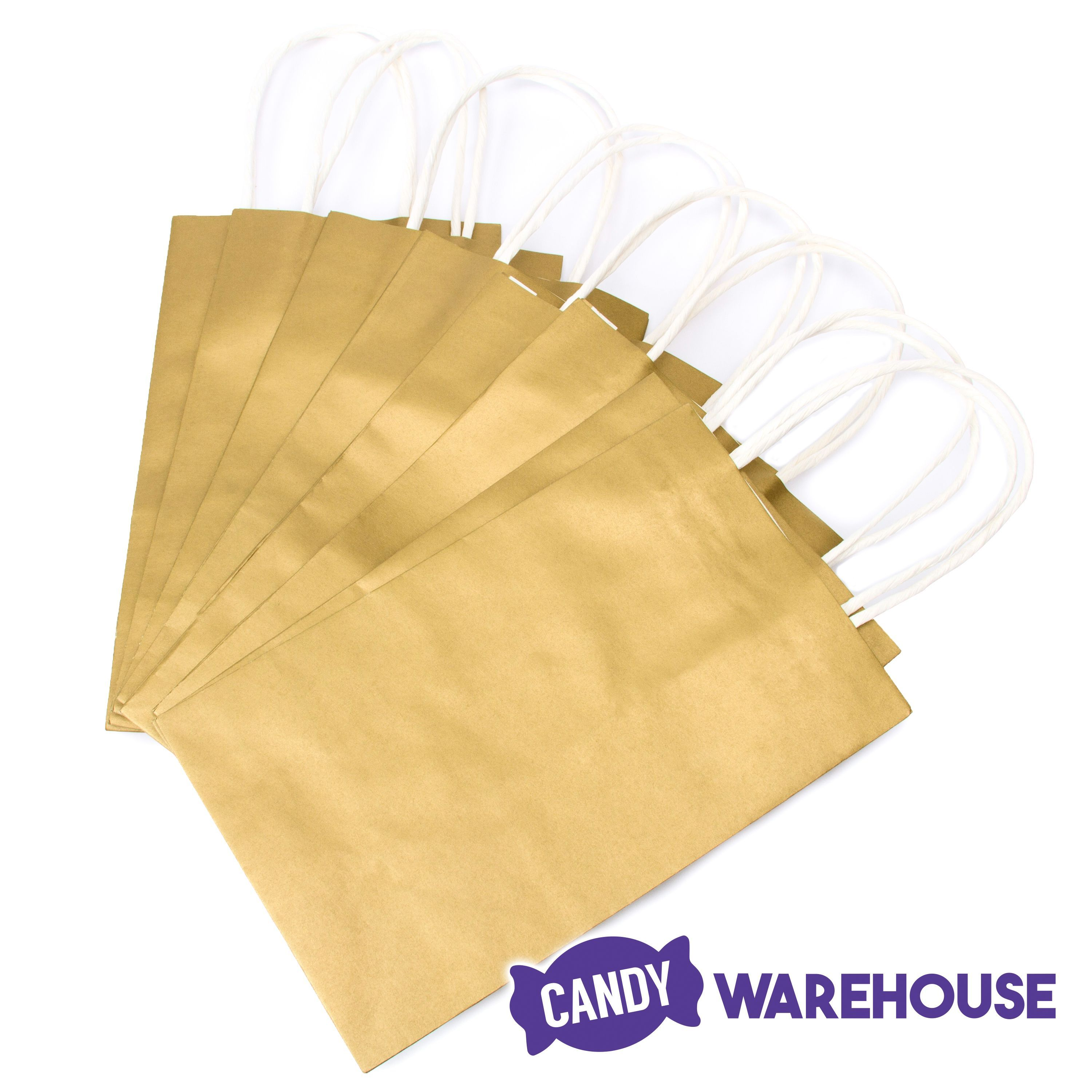 Candy Bags With Handles Gold 12