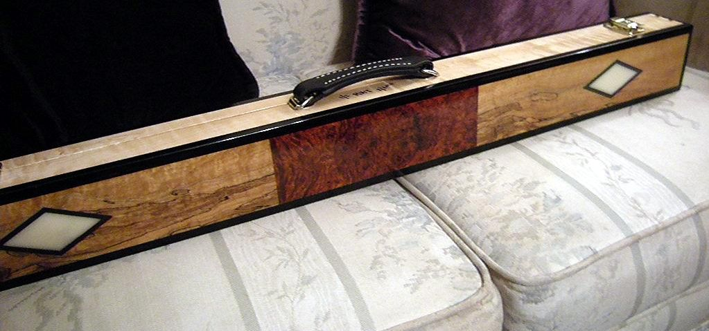 Real Wood Custom Cue Cases Made Azbilliards Com Cue Cases Real Wood Wooden Case