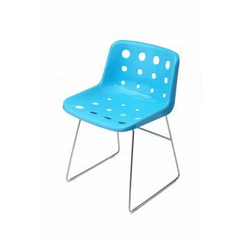 loft robin day skid light blue plastic polo chair chairs