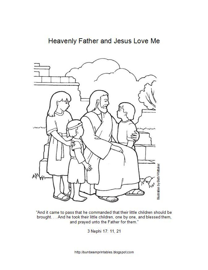 Lds Primary 1 Sunbeams Lesson 2 Heavenly Father Has A Body