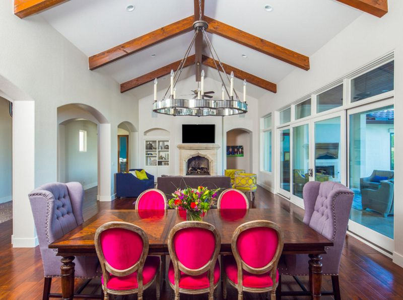 20 Beautiful Dining Rooms with Vaulted Ceiling
