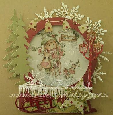 Cards by Bernadet: Snow Globe schudkaart