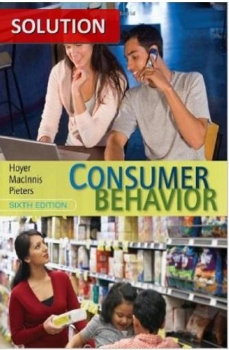 Pin On Consumer Behavior 6th Edition Solution