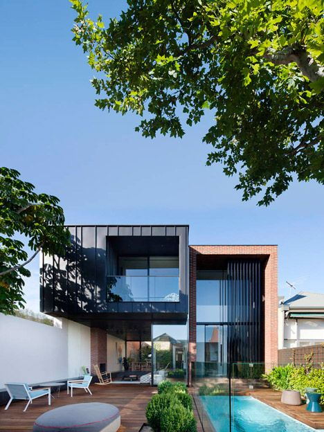 Hardie cladding materials and design contrast roof line lack of eaves also guide try pinterest house extensions rh