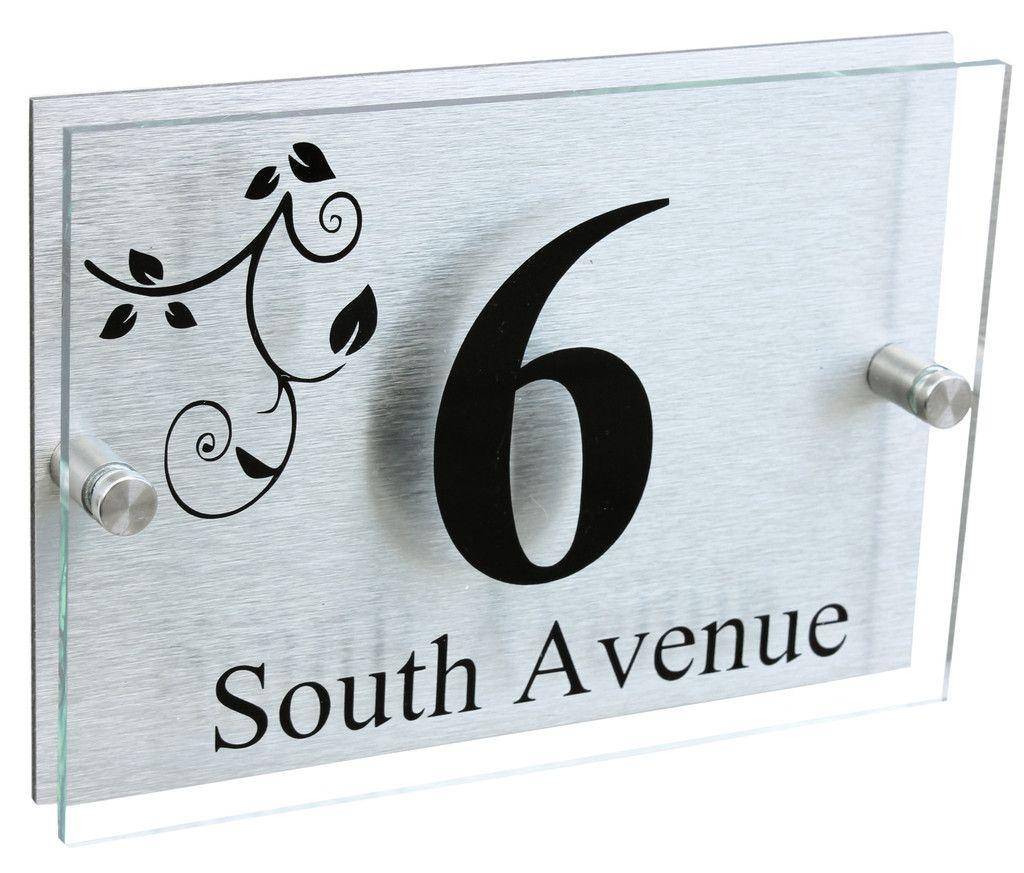 A5 | Designer House Sign Plaque | Leaves Design