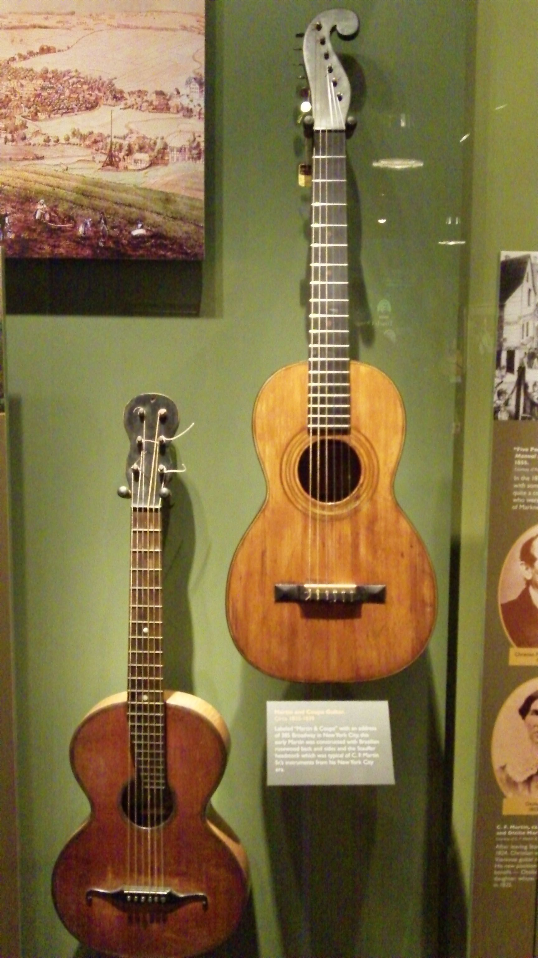early Martin guitar   Two very early Martin Guitars, picture
