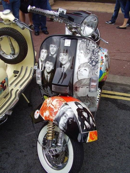 Image result for beatles on Vespa