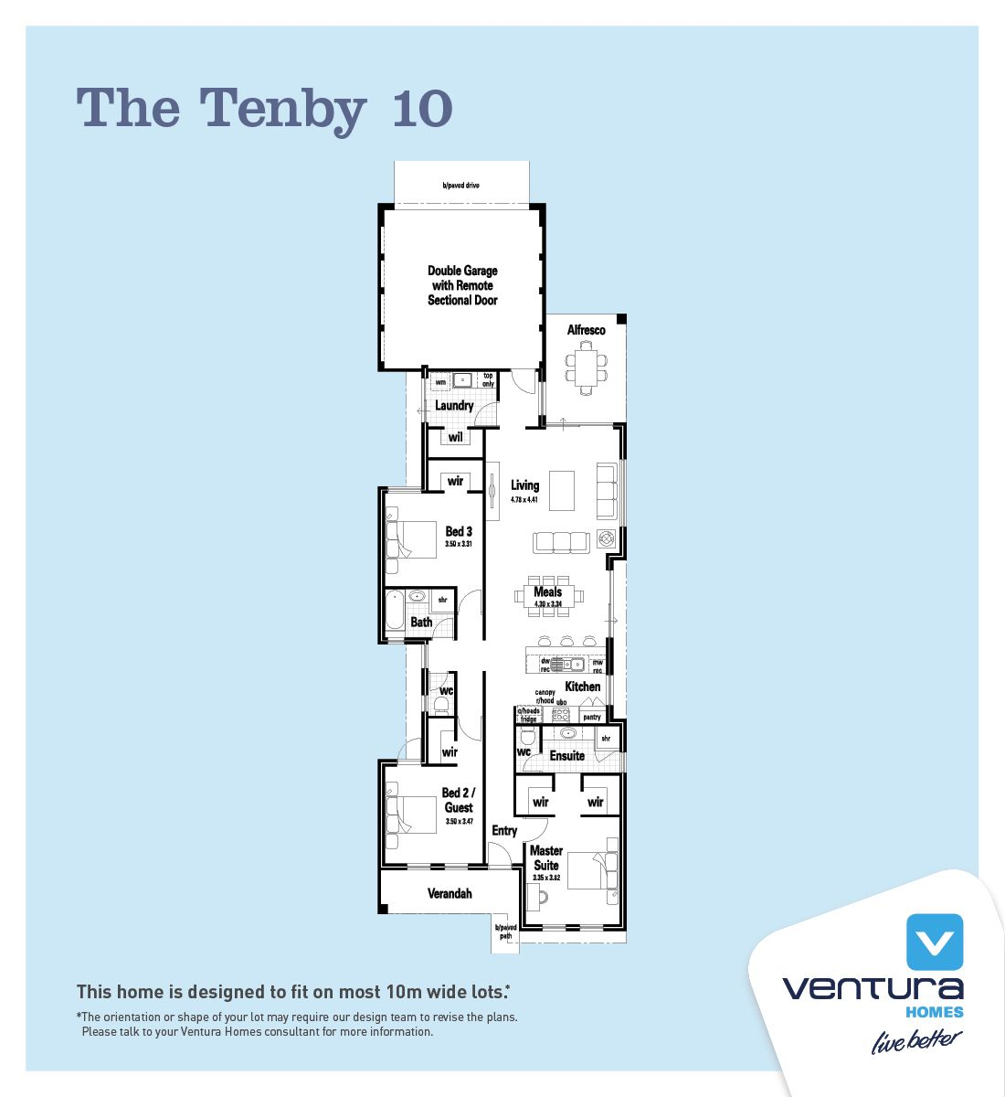 The Tenby 10 Narrow Lot Ventura Homes HP Perth WA Pinterest