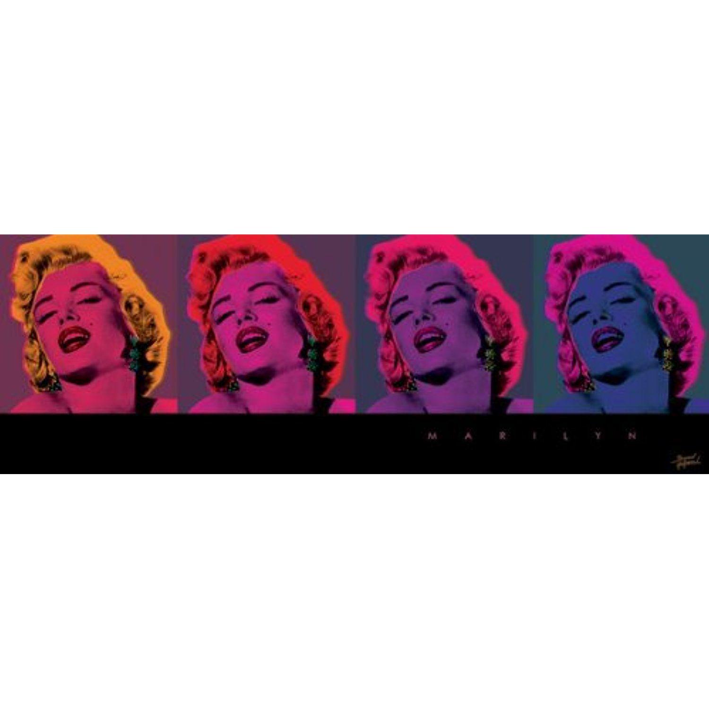 Marilyn monroe pop art celebrity icon poster print 12x36