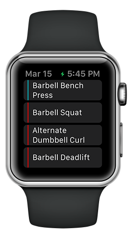 Apple Watch Fitlist Workout Log App Fitness Tracker Exercise Journal With Routines For Bodybuil Apple Watch Fitness Apple Watch Apps Fitness Tracker App