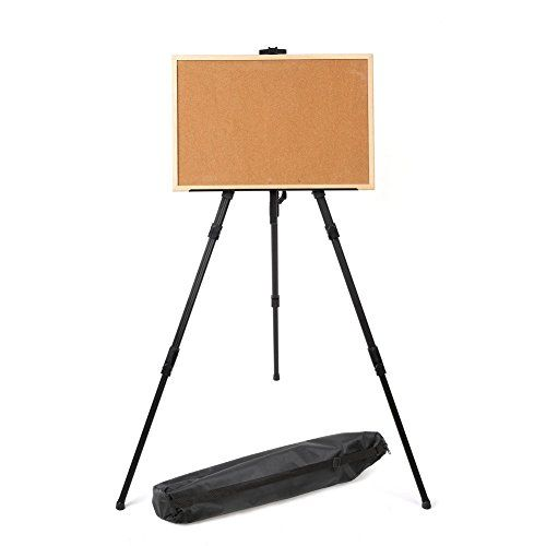 Amzdeal Lightweight Folding Easel Adjustable Aluminum Artist Sketching Painting Display Tripod Easel Carryin Design Your Dream House Art Easel Sketch Painting