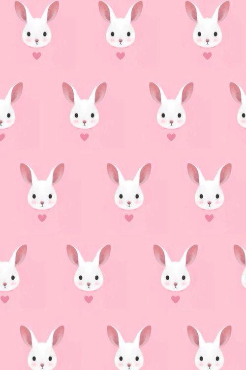 Pin By Virginia Egan On Wallpapers Pattern Wallpaper Bunny Pattern