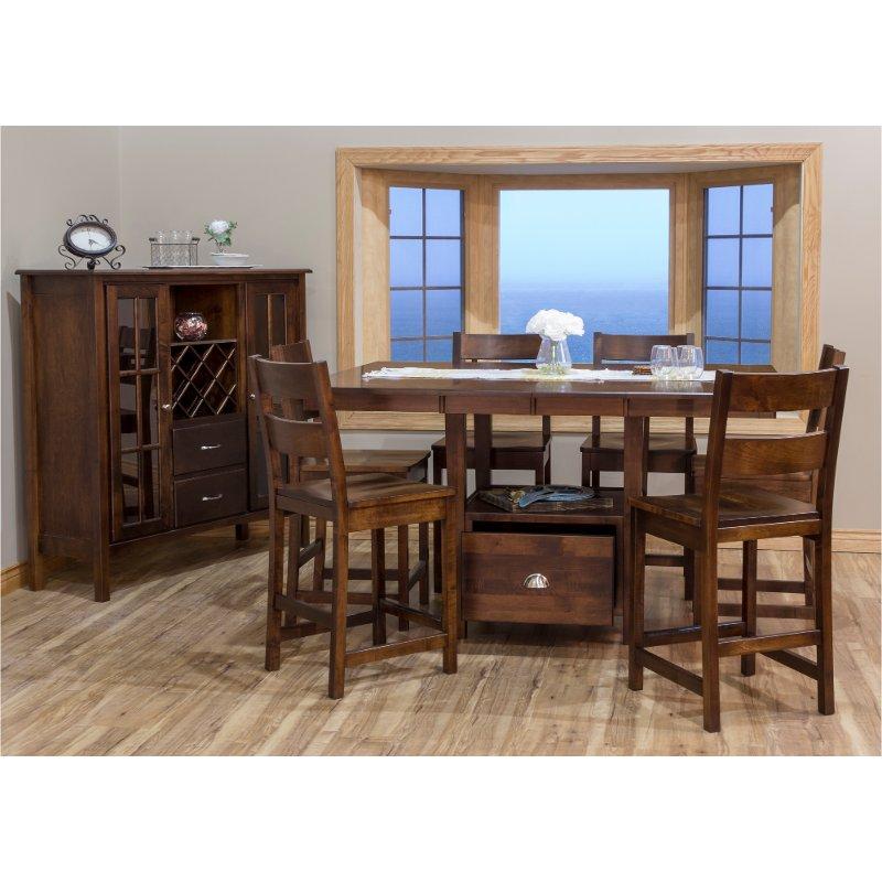 Maple 5 Piece Counter Height Dining Set   Larkin