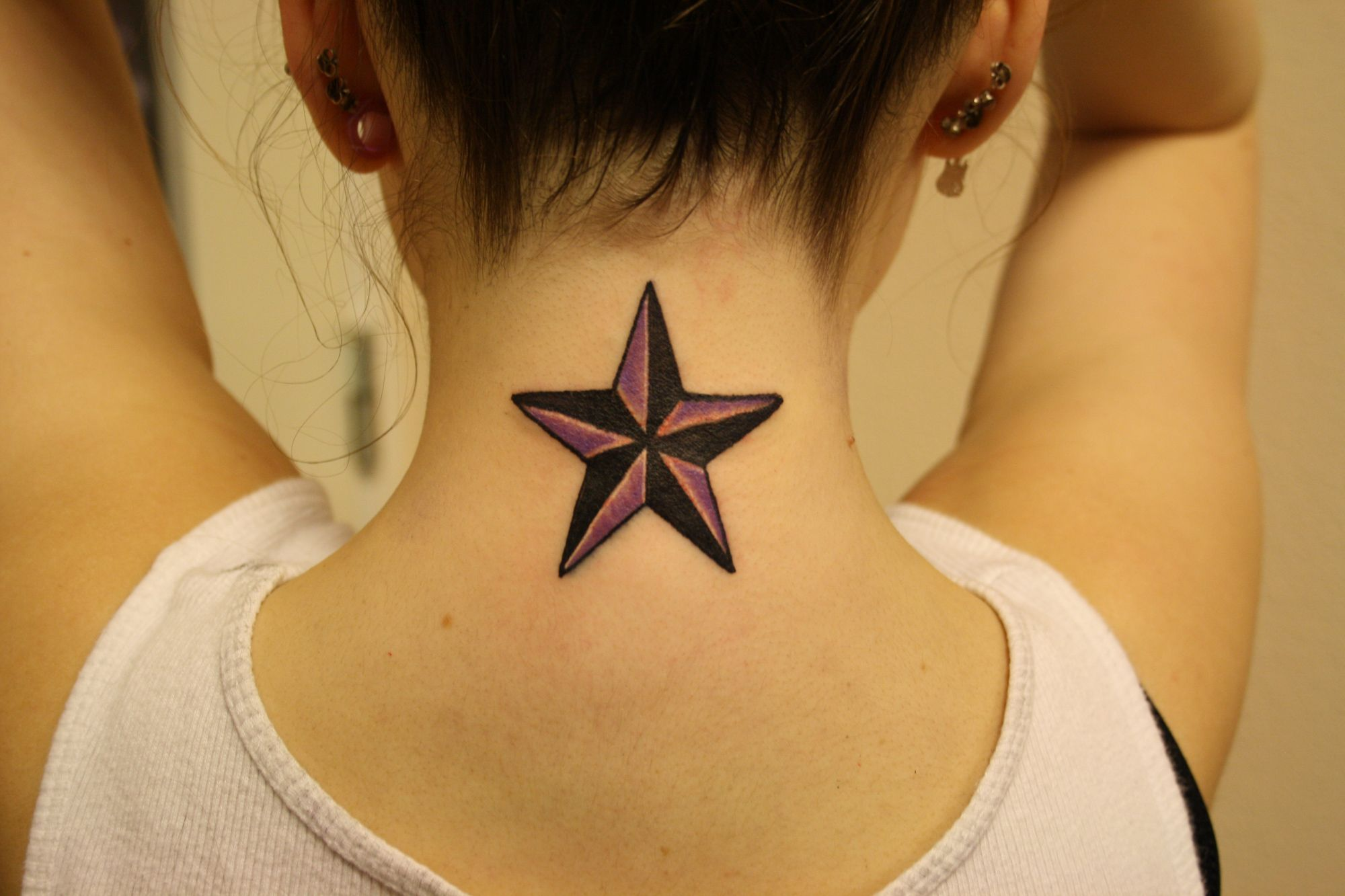 What Is The Meaning Of Star Tattoos Cemonggaul Neck Tattoos Women Star Tattoo Designs Nautical Star Tattoos