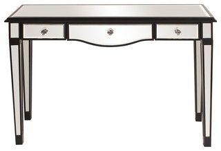 mirrored vanity table w/3 drawers