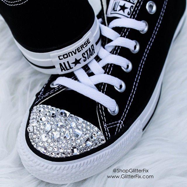 17dedf587039 black • converse • rhinestones