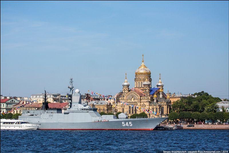 Russian Navy Fleet In St Peterburg 2014 Navy Day Warship Royal Navy