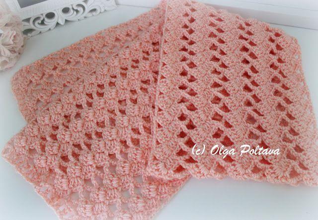 Lacy Crochet: Simply Caron Lace Scarf Free Crochet Pattern ...