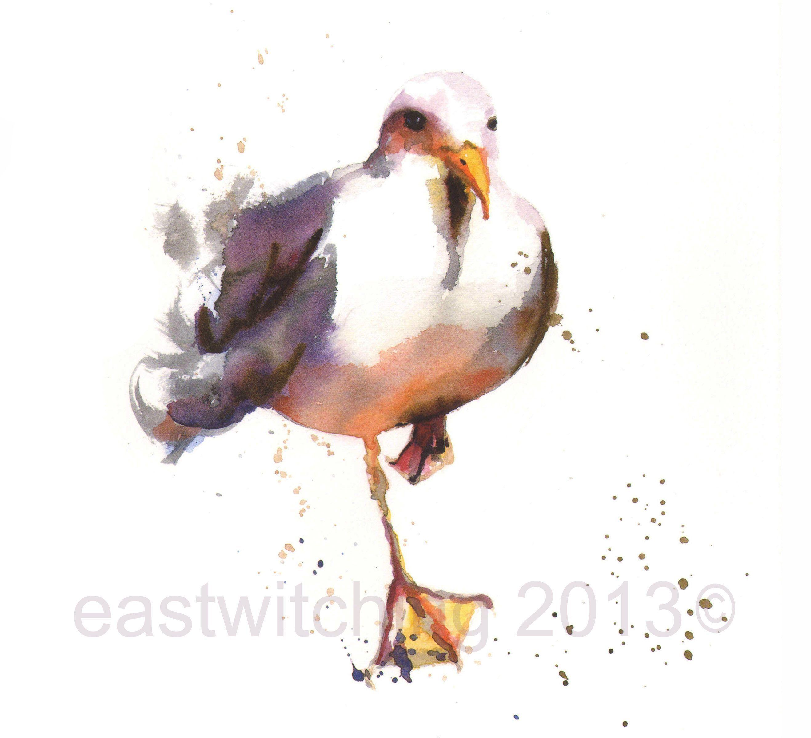 Painting Birds In Watercolour Bird Art Print Coastal Art Bird Art