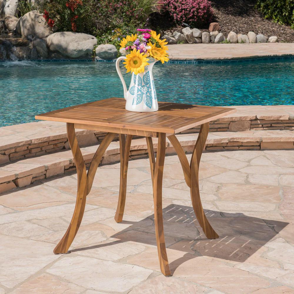 Noble House Camdyn Teak Square Wood Outdoor Dining Table 7245 In 2020 Wood Table Acacia Wood Outdoor Dining