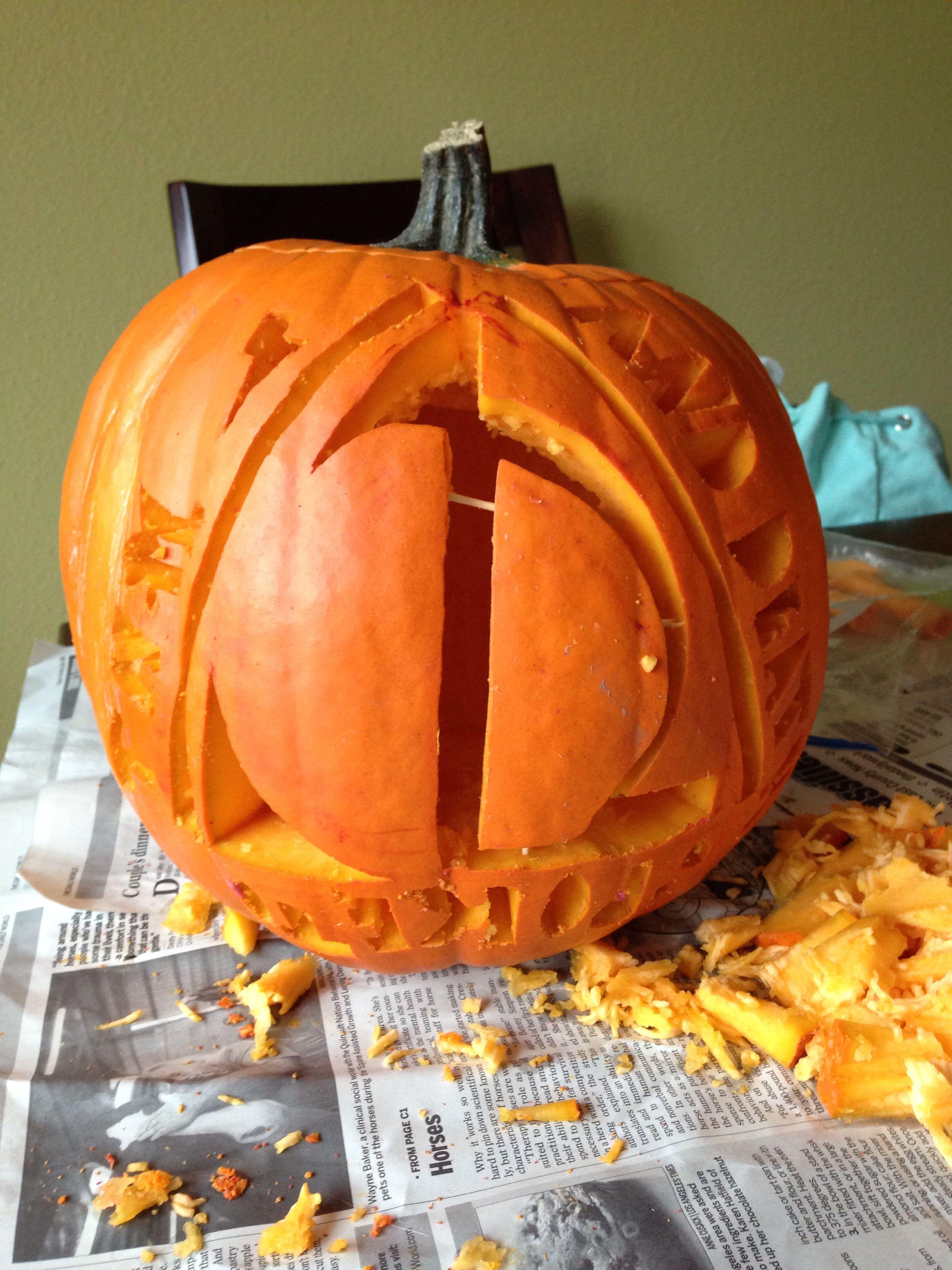 Harry potter Halloween pumpkin carving Homemade
