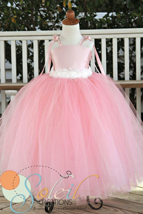 Blush Pink Flower Girl Dress by SCbydesign on Etsy