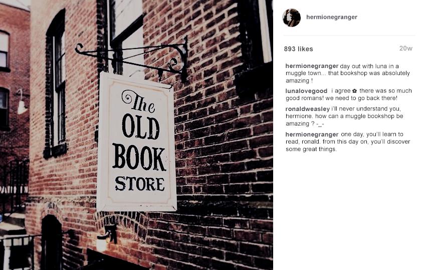 instagram au → hermione jean granger