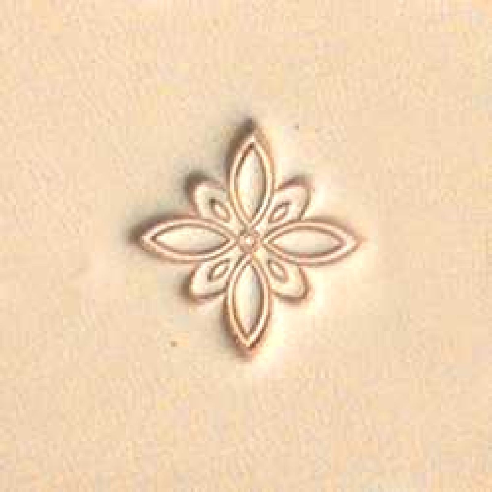 J615 Flower Leather Stamp Craftool Tandy Craft 6615-00 Decorate Stamping