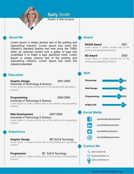 Free Resume Templates For Pages Free Resume Templates Pinterest