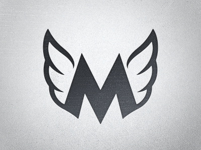 New Logo Mark M Wings Simple Negative Shape Stroke Contrasts Organic Angular Slab Sans Serif