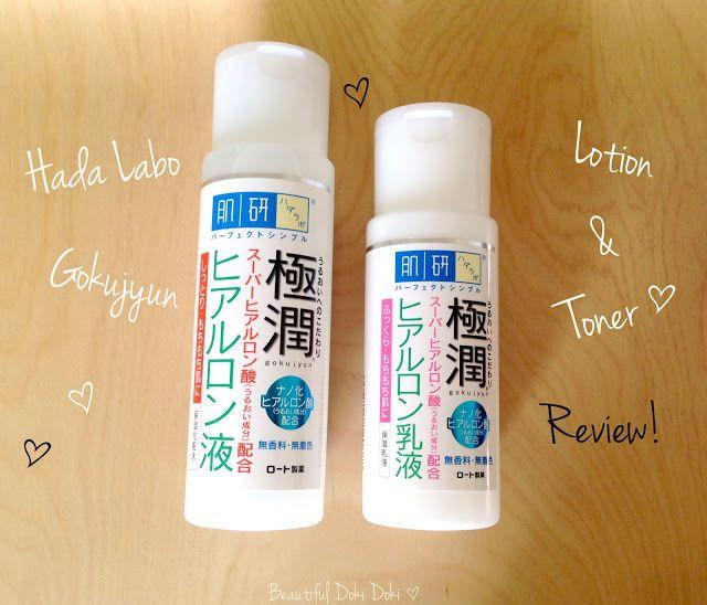 Review Hada Labo Gokujyun Toner And Lotion Beautiful Doki Doki Hada Labo Japanese Skincare Lotion