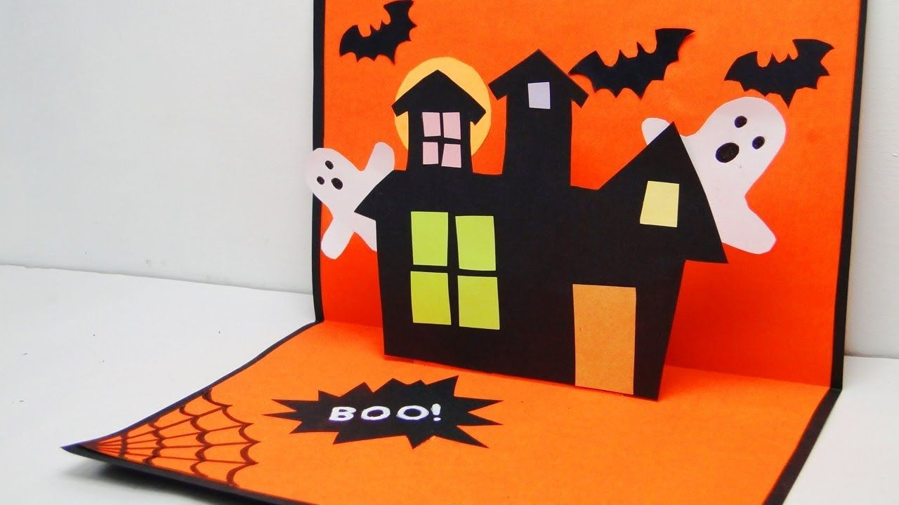 DIY Halloween Pop Up Card  Pop Up Card  Spooky Card  Halloween