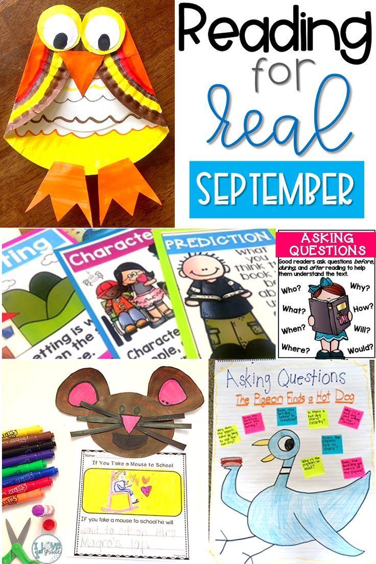 Reading for Real A Month of Reader\'s Workshop Lesson Plans September ...