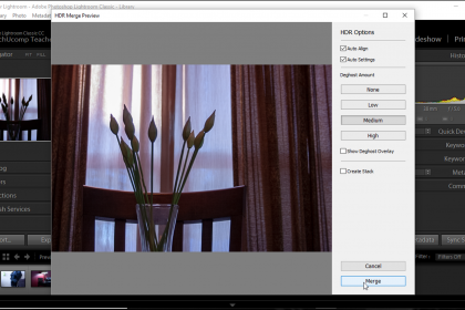 Hdr Photo Merge In Lightroom Classic Cc Instructions Adobe