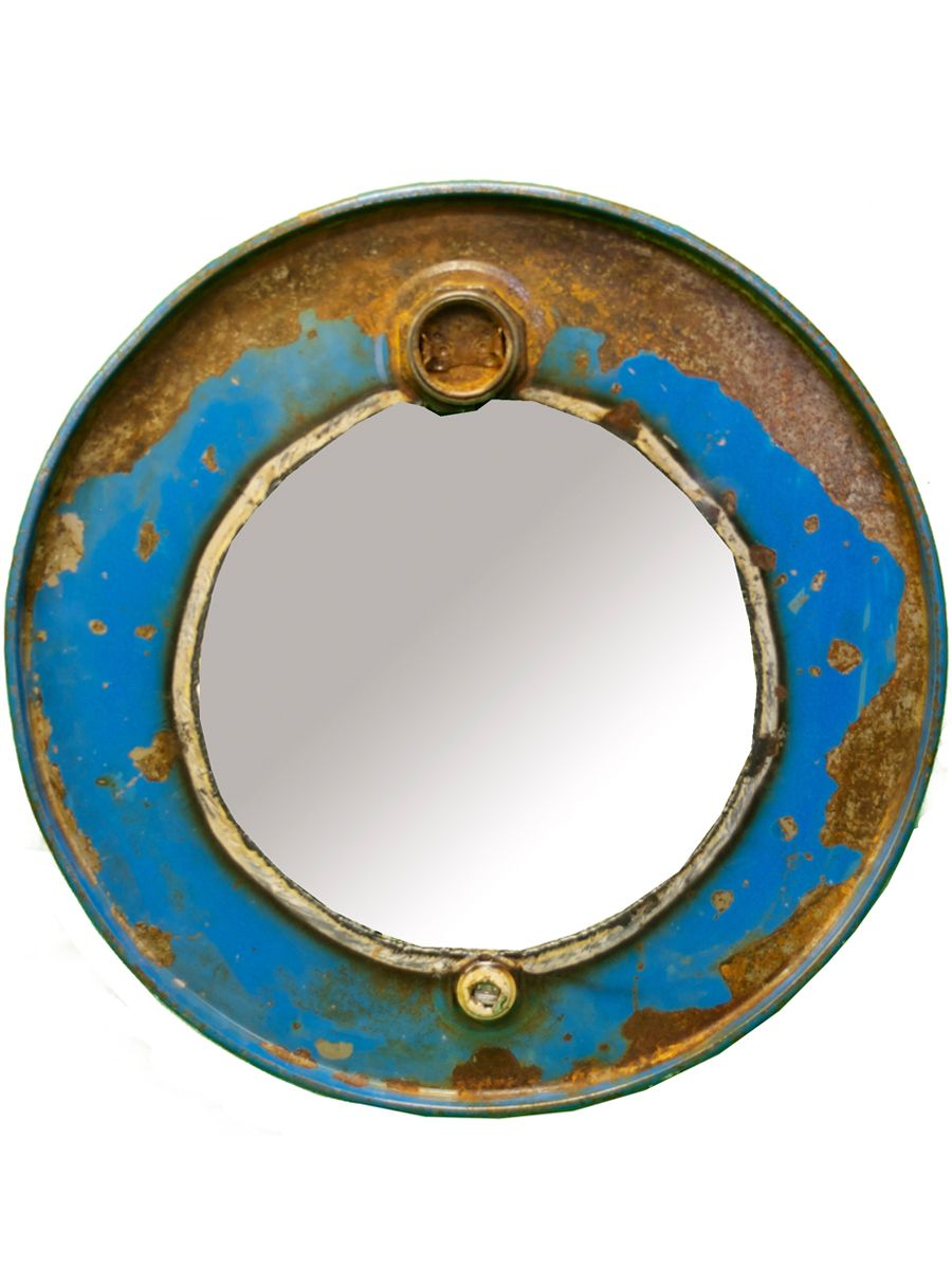Rustic, Steam Punk Mirror would look amazing in an entryway or as part of a gallery wall up a staircase.