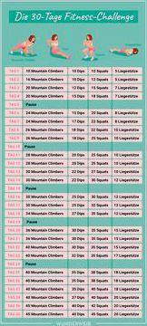 Fitness-Challenge: Mach deinen ganzen Körper in nur 30 Tagen fit | Wunderweib  In nur 30 Tagen bring...