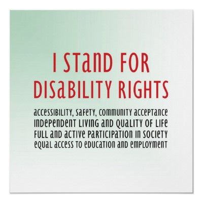 I Stand For Disability Rights Poster Zazzle Com Disability Quotes Disability Advocacy Disability Awareness