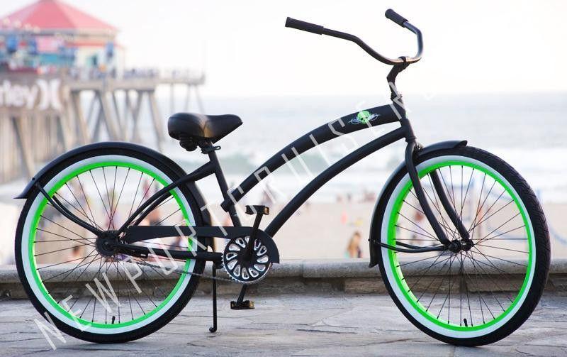 Skull X Bones Single Speed Beach Cruiser Bicycle Beach Cruiser