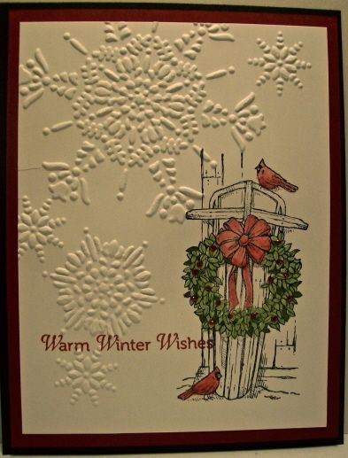 Stampin Up Christmas Card Samples Stamps Winter Memories