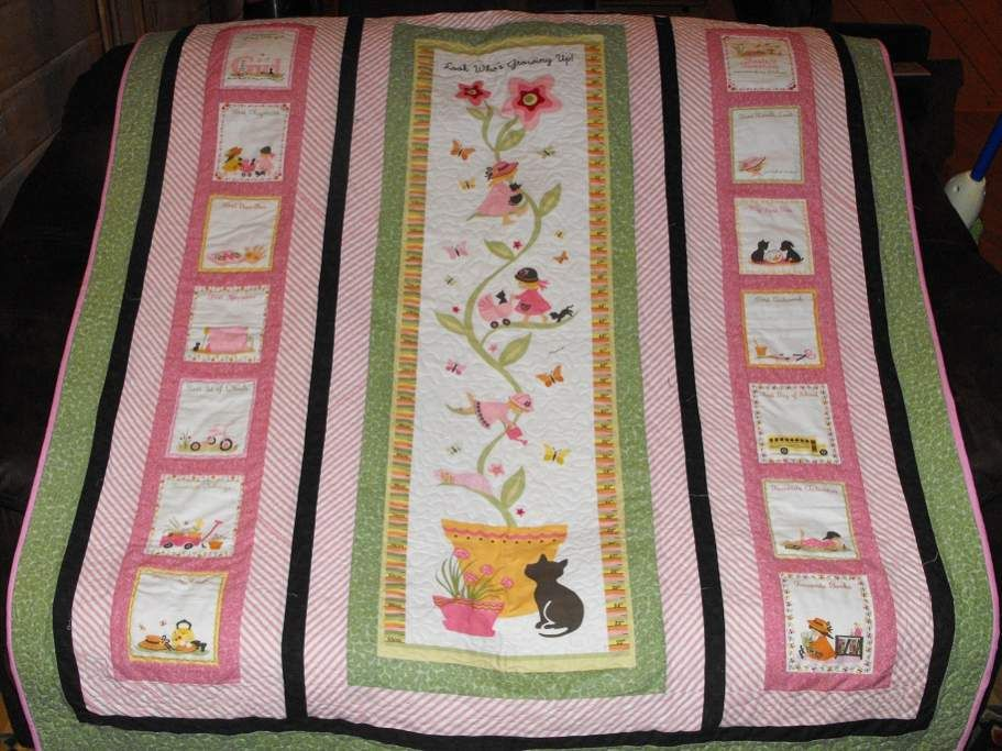 Made for a little girl, panel had a growth chart on it