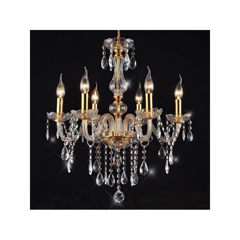 89.99$ Watch Here   Http://alipn5.worldwells.pw/go.php?tu003d32693656977   6  Lights Vintage Luster Crystal Chandelier Lighting Lamp Lights For Foyer Dining  Room ...