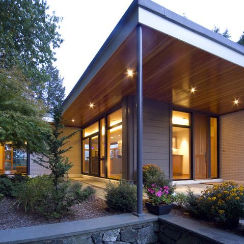 Aluminium Soffit Design Ideas Pictures Remodel And Decor Modern Porch Modern Front Porches Modern Exterior