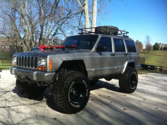 lifted xj with roof rack | XJ Lift/Tire Setup thread - Page 28 - Jeep Cherokee Forum